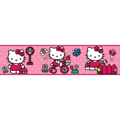 "Room Mates 9' x 1.5"" The World of Hello Kitty Border Wallpaper RMK1737BCS"
