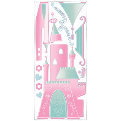 Disney Princess Castle Peel and Stick Giant Wall Decal with Personalization