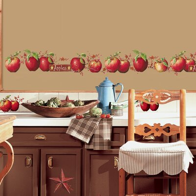 Room Mates Deco 40 Piece Country Apples Wall Decal RMK1570SCS
