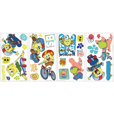 Popular Characters Spongebob Skaters Wall Decal RMK1838SCS