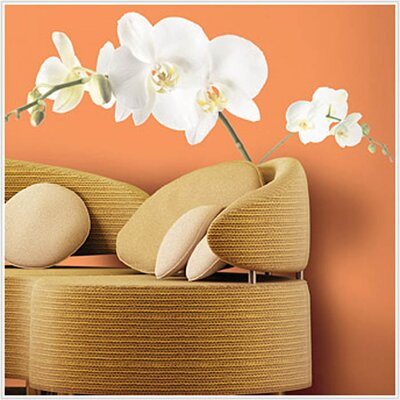 Room Mates Deco 3 Piece White Orchid Wall Decal RMK1315GM