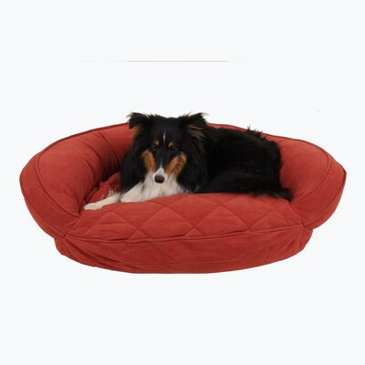 Microfiber Quilted Bolster Bed with Moisture Barrier Protection Size: 30 L x 24 W, Color: Red
