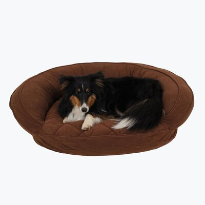 Microfiber Quilted Bolster Bed with Moisture Barrier Protection Size: 30 L x 24 W, Color: Chocolate