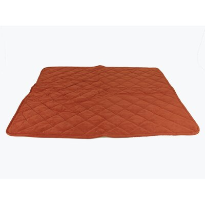 Diamond Quilt Microfiber and Cloud Sherpa Throw Color: Red