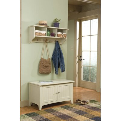Alaterre Shaker Cottage Bench Table and Coat Hooks | Wayfair