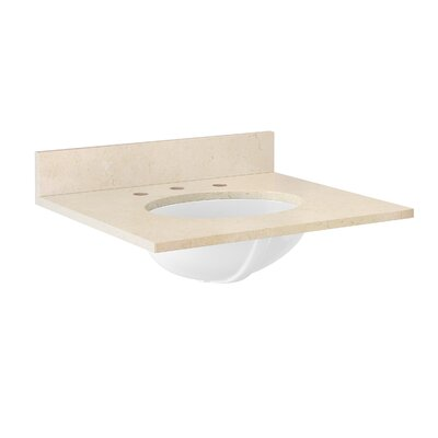 25 Single Bathroom Vanity Top Top Finish: Galala Beige