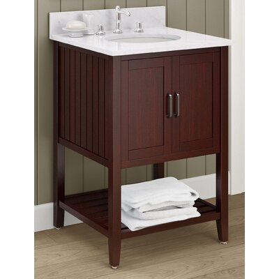 Bennett 25 Bath Vanity Top Finish: White Carrera, Base Finish: Espresso