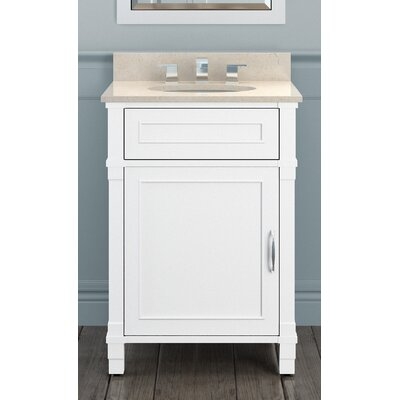 Williamsburg 25 Bath Vanity Top Finish: Galala Beige, Base Finish: White