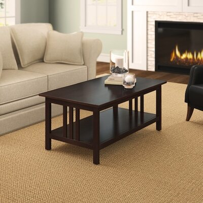 Craftsman Coffee Table Color: Espresso