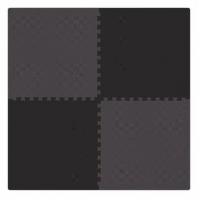 Economy SoftFloors Set in Black / Grey Size: 12 x 12