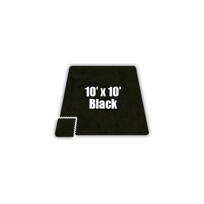 SoftCarpets Set in Black Size: 16 x 16
