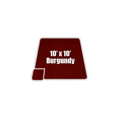SoftCarpets Set in Burgundy Size: 10 x 12