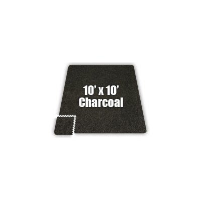 SoftCarpets Set in Charcoal Size: 8 x 10