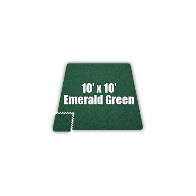 SoftCarpets Set in Emerald Green Size: 12 x 18