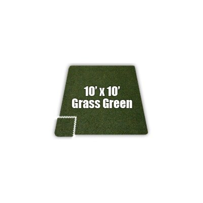 SoftCarpets Set in Grass Green Size: 10 x 14