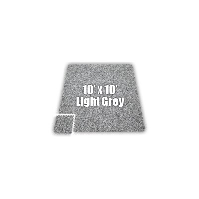 SoftCarpets Set in Light Grey Size: 12 x 12