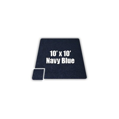 SoftCarpets Set in Navy Blue Size: 10 x 14