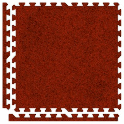 SoftCarpets Set in Red Size: 6 x 8