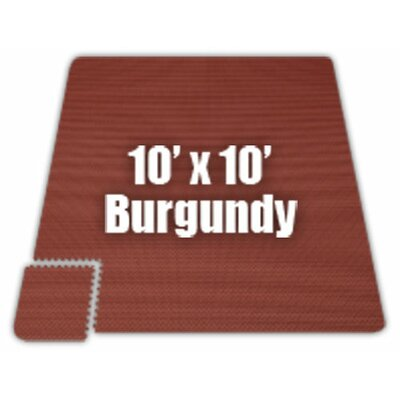 Premium SoftFloors Set in Burgundy Size: 20 x 50