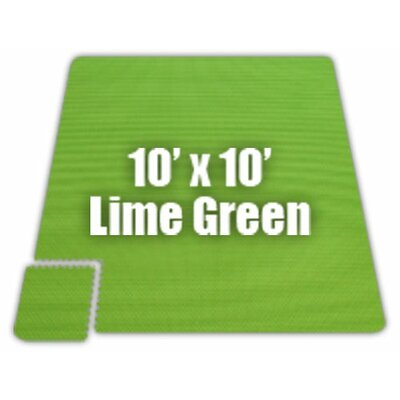 Premium SoftFloors Set in Lime Green Size: 10 x 14