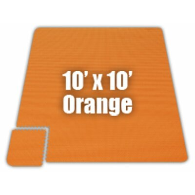 Premium SoftFloors Set in Orange Size: 10 x 16
