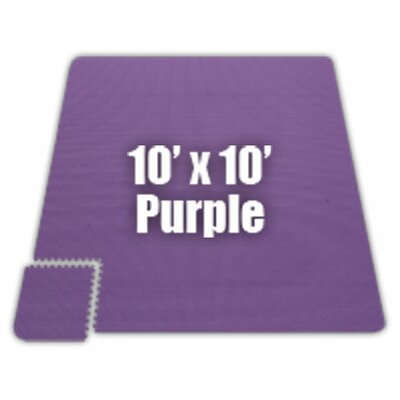 Premium SoftFloors Set in Purple Size: 10 x 10