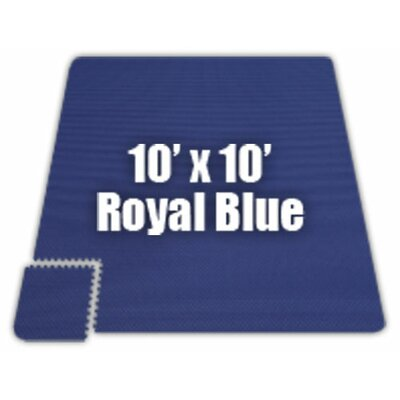 Premium SoftFloors Set in Royal Blue Size: 6 x 8