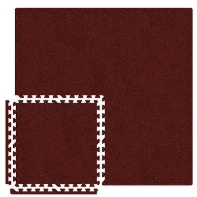 Economy SoftCarpets Set in Burgundy Size: 20 x 20