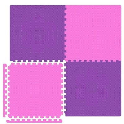 Economy SoftFloors Set in Pink / Purple Size: 6 x 8