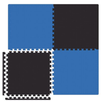 Economy SoftFloors Set in Royal Blue / Black Size: 6 x 8