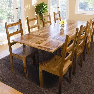 Classic Home Sierra 9 Piece Extension Dining Table Set