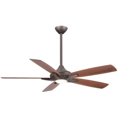 52 Dyno 5-Blade Ceiling Fan with Remote Finish: Oil Rubbed Bronze