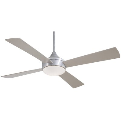 52 Aluma Wet 4 Blade Outdoor LED Ceiling Fan with Remote Finish: Brushed Aluminum