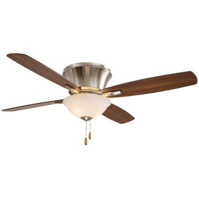 52 Mojo II Flushmount 4 Blade LED Ceiling Fan Motor Finish: Brushed Nickel
