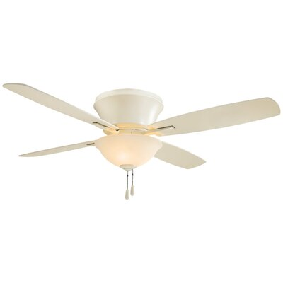 52 Mojo II Flushmount 4 Blade Ceiling Fan Finish: Bone White