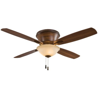 52 Mojo II Flushmount 4 Blade LED Ceiling Fan Motor Finish: Distressed Koa