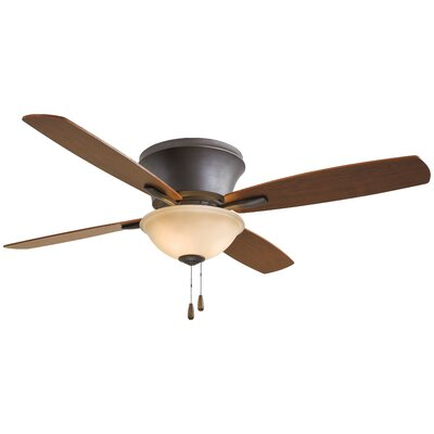 52 Mojo II Flushmount 4 Blade LED Ceiling Fan Motor Finish: Oil Rubbed Bronze