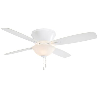 52 Mojo Ii Flushmount 4-Blade Ceiling Fan Finish: White