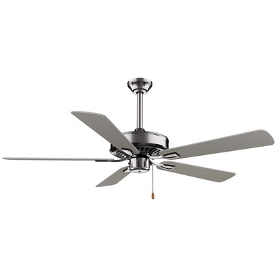 52 Contractor Plus 5-Blade Ceiling Fan Finish: Brushed Nickel