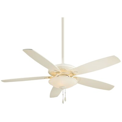 52 Traditional Mojo 5 Blade LED Ceiling Fan Finish: Bone White