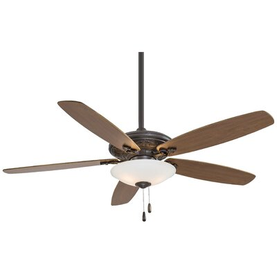 52 Traditional Mojo 5 Blade LED Ceiling Fan Finish: Oil Rubbed Bronze with Dark Walnut Blades
