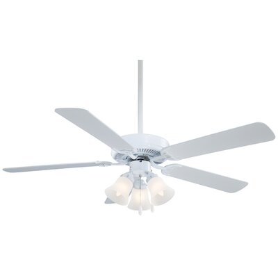 52 Contractor Uni Pack 5 Blade LED Ceiling Fan Finish: White