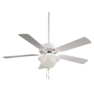 52 Contractor Uni Pack 5 Blade LED Ceiling Fan Finish: White, Glass Type: Etched Swirl Glass