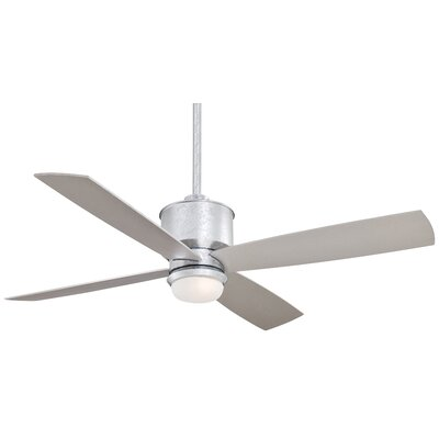 52 Strata 4 Blade LED Ceiling Fan Finish: Galvanized with Silver Blades