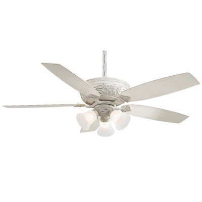 52 Classica 5-Blade Gallery Edition Provencal Blanc Ceiling Fan with Handheld Remote