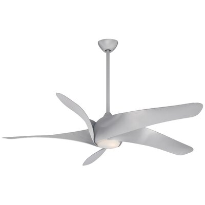 62 Artemis� 5 Blade LED Ceiling Fan with Remote Finish: Silver