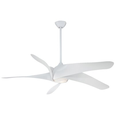 62 Artemie XL5 5 Blade Ceiling Fan Finish: White