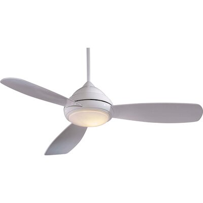 52 Concept I 3-Blade Ceiling Fan Finish: White with White Blades