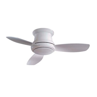 44 Concept II 3 Blade LED Ceiling Fan Finish: White, Bulb Type: LED