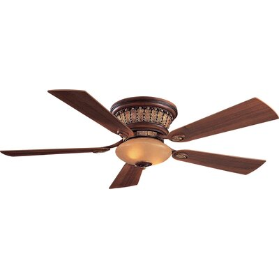 52 Calais 5 Blade LED Ceiling Fan Finish: Belcaro Walnut